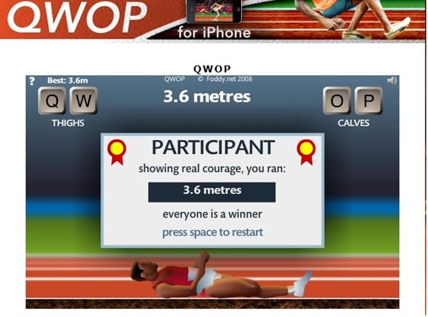 【粉多運動會】QWOP《超難跑步》,讓人玩到想翻桌! 何 嘉琪