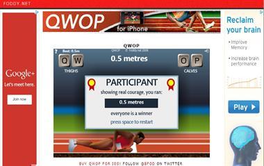 【粉多運動會】QWOP《超難跑步》,讓人玩到想翻桌! Jocelyn Cheng