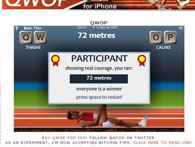【粉多運動會】QWOP《超難跑步》,讓人玩到想翻桌! 饒佩君
