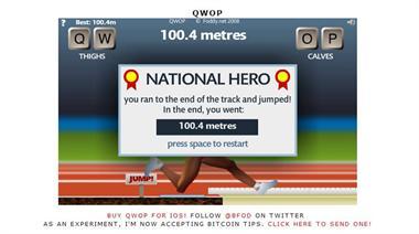 【粉多運動會】QWOP《超難跑步》,讓人玩到想翻桌! AngelaWang