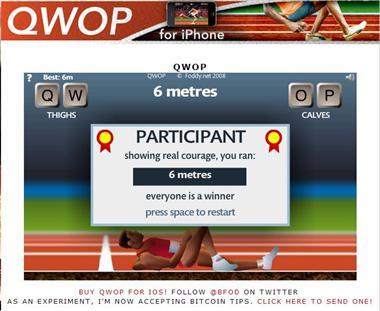 【粉多運動會】QWOP《超難跑步》,讓人玩到想翻桌! YangJoelle