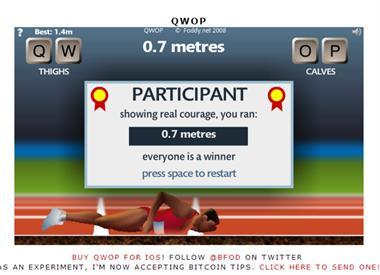 【粉多運動會】QWOP《超難跑步》,讓人玩到想翻桌! PrsLinda