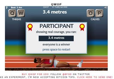 【粉多運動會】QWOP《超難跑步》,讓人玩到想翻桌! 鄭翠芳