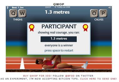 【粉多運動會】QWOP《超難跑步》,讓人玩到想翻桌! Yang Mei