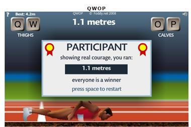 【粉多運動會】QWOP《超難跑步》,讓人玩到想翻桌! Chris T