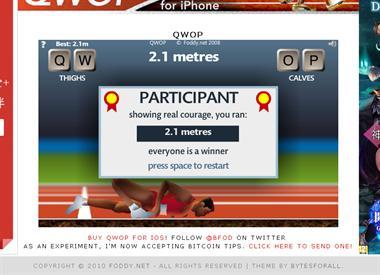 【粉多運動會】QWOP《超難跑步》,讓人玩到想翻桌! Chinwen Hu