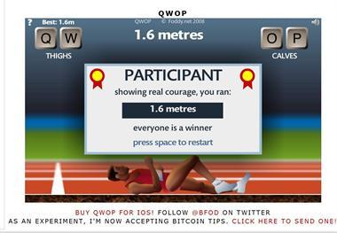 【粉多運動會】QWOP《超難跑步》,讓人玩到想翻桌! Sen Fo