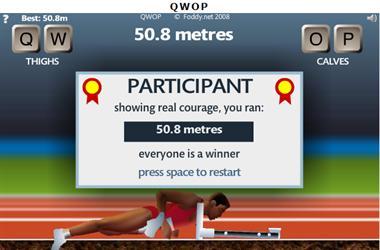 【粉多運動會】QWOP《超難跑步》,讓人玩到想翻桌! 馨 溫