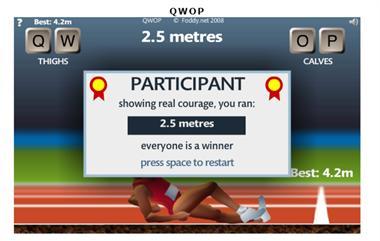 【粉多運動會】QWOP《超難跑步》,讓人玩到想翻桌! To Ivy