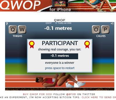 【粉多運動會】QWOP《超難跑步》,讓人玩到想翻桌! 碧霞 趙