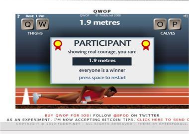 【粉多運動會】QWOP《超難跑步》,讓人玩到想翻桌! Yao-jenMai