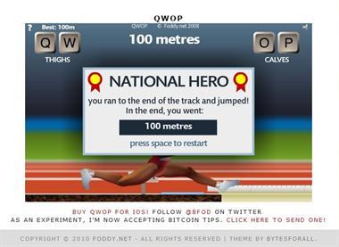 【粉多運動會】QWOP《超難跑步》,讓人玩到想翻桌! 許 秀香
