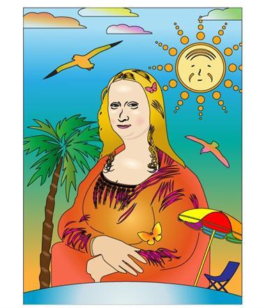 [你的夏日蒙娜丽莎创意绘画主题] 愉快的午后图片