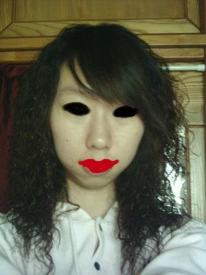 咒怨,黑瞳鬼顏自拍照 Shiung Guo