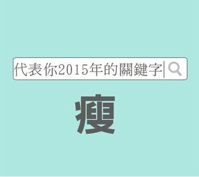 馬上測試代表你2015年的關鍵字 Yang Lili