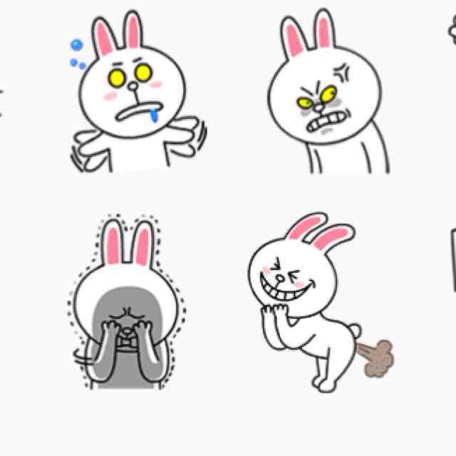 兔兔的表情我最喜欢用图片上的哭脸 因为超可爱的~~用了那麼多贴图