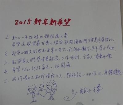我願故我寫!2015新年新希望! 小檬 酸