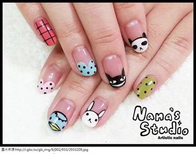 喜欢阿郎基系列,画在指甲上感觉更可爱了.