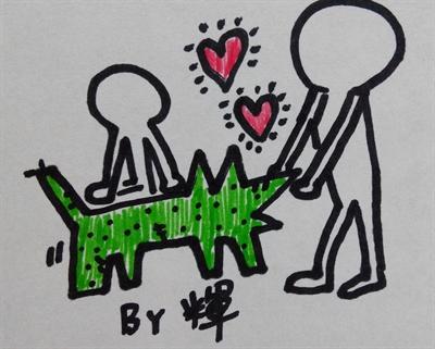 向凱斯哈林致敬!畫出你的普普風創作 陳宇輝